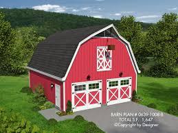 barn plan 0639 1008 b house plans by garrell associates inc