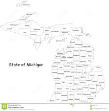 Michigan Map by Map Of Detroit Michigan Royalty Free Stock Image Image 5033726