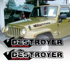 jeep cj hood product pair of destroyer wrangler decal set jeep stickers hood
