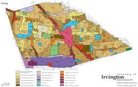 Nj Counties Map Township District U0026 Zoning U2013 Township Of Irvington New Jersey