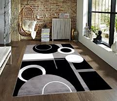 Geometric Area Rug T1010 Gray Black White 5 2 X 7 2 Floral Area Rug Carpet