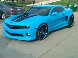 light blue camaro camaro garage cars