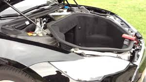 tesla inside engine tesla motors model s part 30 of many under hood tare down youtube