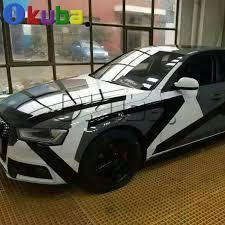 matte flat black vinyl car wrap sticker decal sheet film bubble free high quality arctic camo vinyl white black car wrapping with air