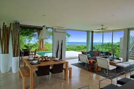 living room design at luxury vacation home in costa rica black