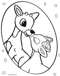 printable rudolph coloring pages kids cool2bkids cookie