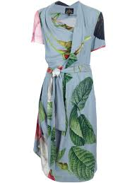 vivienne westwood anglomania daisy dress in blue lyst