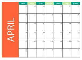 april 2017 cute calendar cute april 2017 pdf word excel