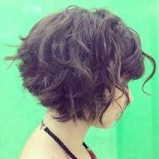 how to stlye a stacked bob with wavy hair short curly stacked bob with bangs great look for any post locks