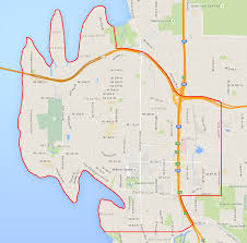 Map Of Seattle Airport by Seattle Flat Rate Zones