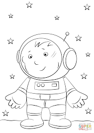 boy astronaut on the moon coloring page free printable coloring