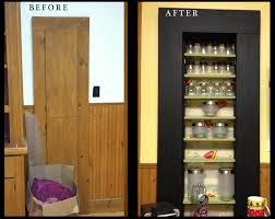 before and after1 diy in cabinet spice rack inside door magnetic