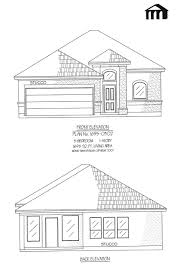 1695 0302 square feet narrow lot house plan