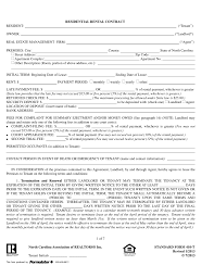 north carolina realtors residential lease agreement form 410 t