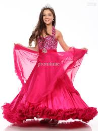 best selling a line halter beaded cute girls pageant dresses