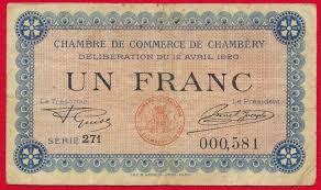 chambre de commerce chambery chambery un franc chambre de commerce fdcollector