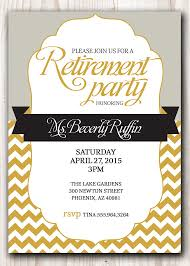 retirement invitations retirement party invitation gold and silver or any color