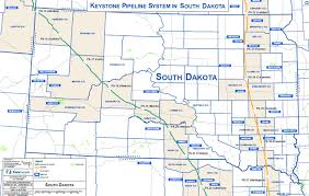 map south dakota route maps keystone xl pipeline