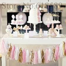 New Year Decorations Diy by 14 Inch Tissue Paper Tassel Garland Diy Wedding Decoration New