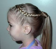hair braided into pony tail little girl s hairstyles french braid into hair wrapped ponytail