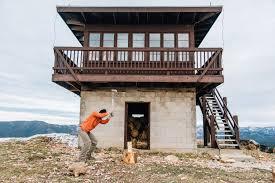 shelter garnet mountain fire tower montana cabin and mountains