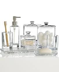 Discount Bathroom Accessories by Clear Glass Bed Bath Beyond Accessories For Gorgeous Look