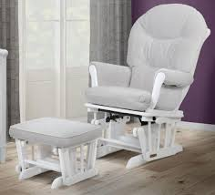 Glider Chair With Ottoman Shermag Valencia Glider And Ottoman Set White Light Gray Fabric