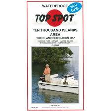 amazon com top spot map n204 10 thousand islands florida area