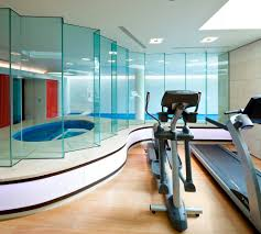 modern baby gyms with glass home gym modern and subway multiuse tiles
