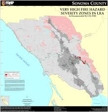 Zip Code Map Sacramento by Cal Fire Sonoma County Fhsz Map