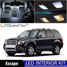 ford escape 2008 2012 xenon white premium led interior lights