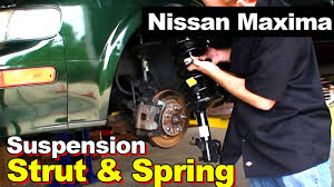 nissan altima 2005 lowering springs nissan maxima front complete strut with coil springs youtube