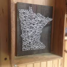 Wooden Art Home Decorations Minnesota State String Art Can Be Customized Nail Art