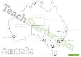 map of australia with cities and states australian states and capital cities map worksheet teaching