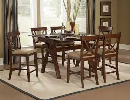 Espresso Dining Room Furniture by Warm Espresso Modern Counter Height Dining Table W Options