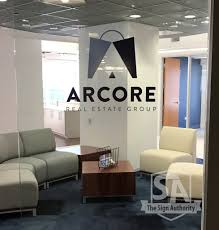 custom door lettering and decal for arcore real estate group in custom door lettering and decal for arcore real estate group in chicago il
