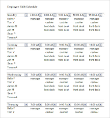 schedule template 52 free word excel pdf format free