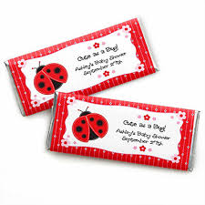 ladybug baby shower favors modern ladybug personalized baby shower candy bar wrapper favors