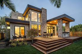 grey nuance of the house with light stone homes can be a great