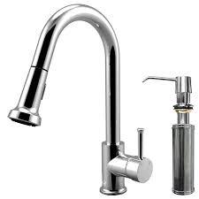 kitchen faucets at lowes shop vigo harrison chrome 1 handle deck mount pull down kitchen