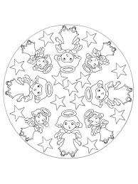 mandala christmas angels coloring pages mandala christmas