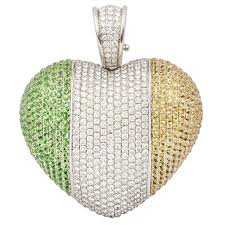 Irish Flag For Sale Theo Fennell Ruby Diamond Gold Ampoule Snake Pendant For Sale At