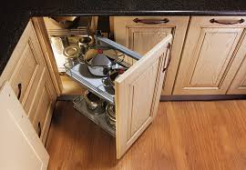 wooden corner kitchen solutions cabinet drawer for appliances
