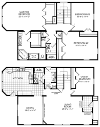 Four Bedroom House Floor Plans by Exellent 4 Bedroom Floor Plans With Dimensions Plan Friday 3