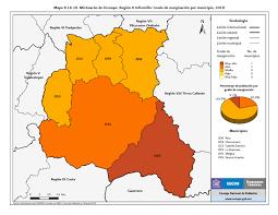 Michoacan Map índice De Marginación Por Entidad Federativa Y Municipio 2010