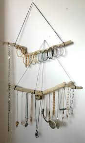 Jewelry Wall Hanger Driftwood Jewelry Hanger Ready To Ship Custom Size Natural Wood