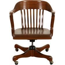 Wooden Chair Png Walnut 1930 U0027s Vintage Swivel Adjustable Desk Chair Signed