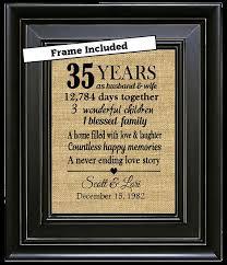 35 year anniversary gift 17 beste ideeën 35 year anniversary gift op