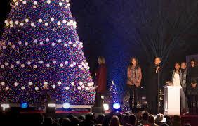 national christmas tree lighting with president obama and the