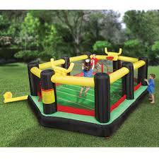 Backyard Items The Inflatable Backyard Sports Arena Hammacher Schlemmer